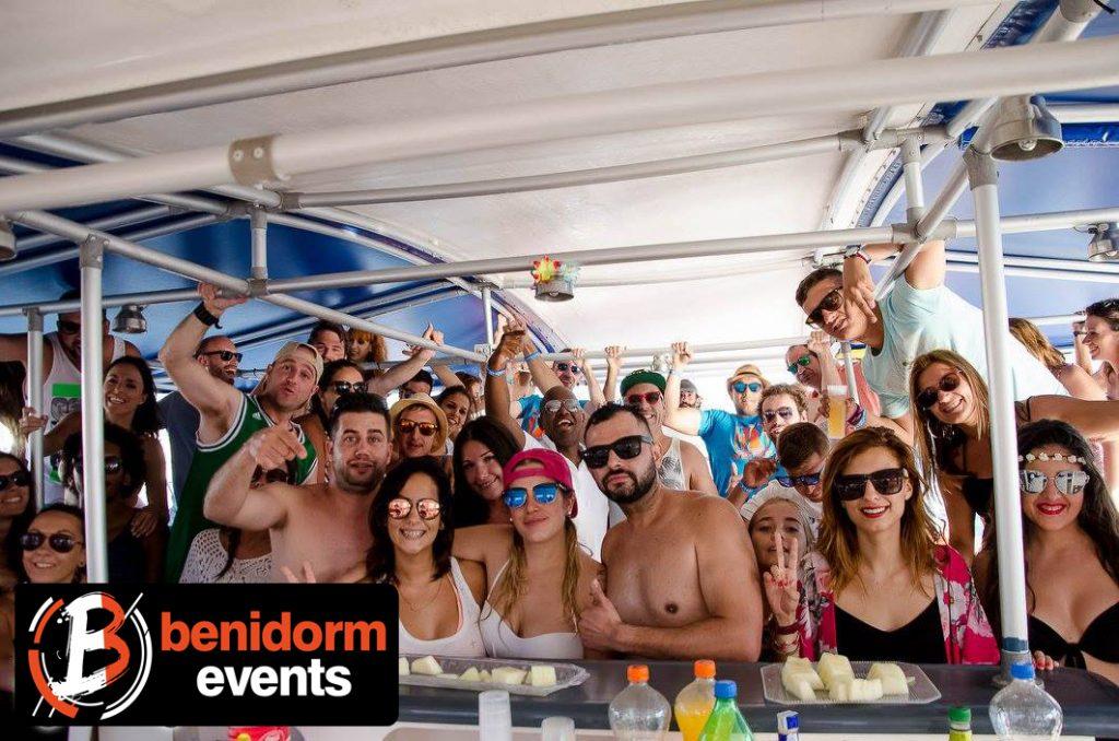Benidorm boat Party