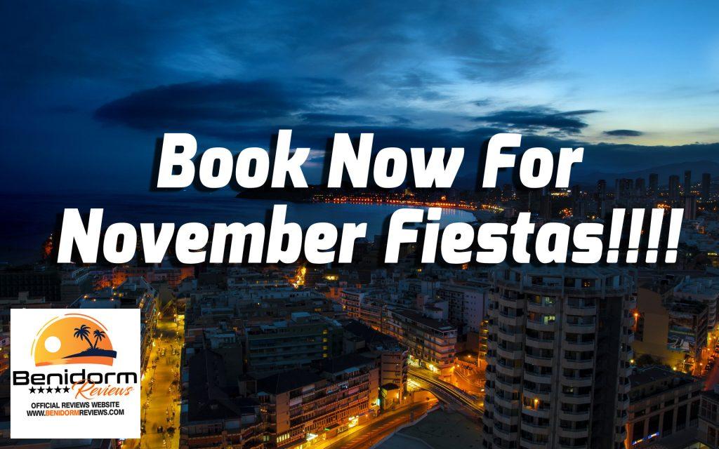 bookings benidorm fiestas