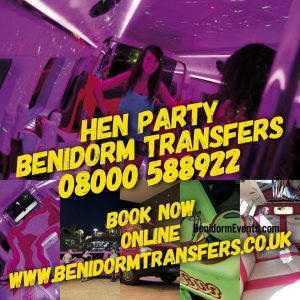 benidorm review hen party transfer service banner